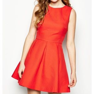 Jack Wills Orange Cottenham Dress